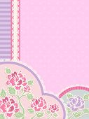 stock photo of frilly  - IIlustration Featuring Frilly Corner Borders with a Shabby Chic Design - JPG