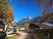 foto of south tyrol  - A rural village in the Funes Valley  - JPG