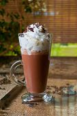 picture of whipping  - Coffee mocha with whipped cream and chocolate - JPG
