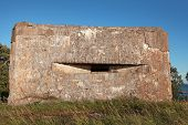 stock photo of ww2  - Old concrete bunker from WW2 period on Totleben fort island in Russia - JPG