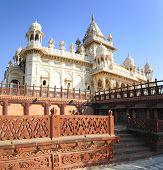 picture of mausoleum  - Jaswant Thada mausoleum in Jodhpur India - JPG