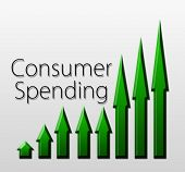 picture of macroeconomics  - Graph illustration showing Consumer Spending growth - JPG