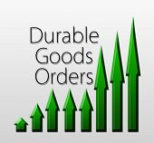 stock photo of macroeconomics  - Graph illustration showing Durable Goods Orders growth - JPG