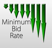 foto of macroeconomics  - Graph illustration showing Minimum Bid Rate decline - JPG