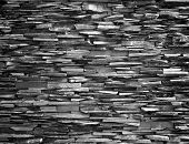 pic of fortified wall  - Stone wall background black wall construction stronger - JPG