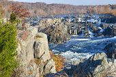 picture of virginia  - Great Falls National Park on Potomac River in Autumn  - JPG