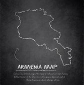 image of armenia  - Armenia map blackboard chalkboard vector template dark - JPG