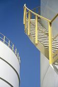 foto of bannister  - Stairway on Storage Tank - JPG