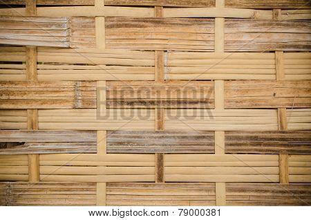 The Handcraft Of Bamboo Weave Pattern Fence