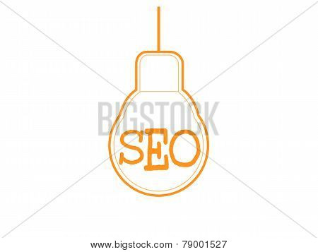 Seo Word Combined With Light Bulb