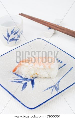 Sushi With Chopstick