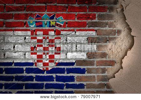 Dark Brick Wall With Plaster - Croatia