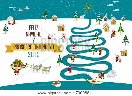 Eskimos New year Christmas 2015 (spanish)