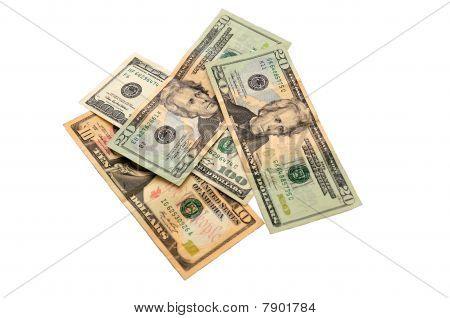 Heap Of Dollar Banknotes