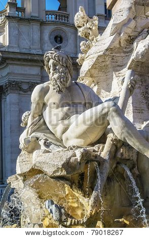 Fountain Of The Four Rivers, Rome
