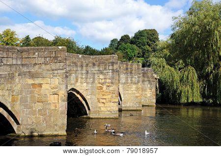 Medieval bridge, Bakewell.