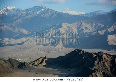 Karakorum range in the north of India