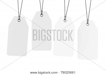Set Of Blank Tags