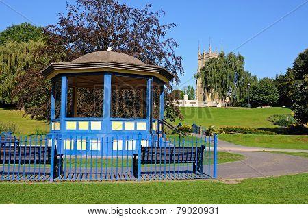 Abbey gardens bandstand, Evesham.