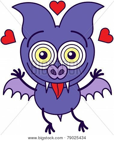 Purple bat madly in love