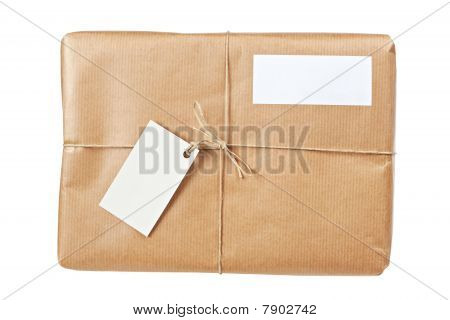 Brown Package With Blank Labels