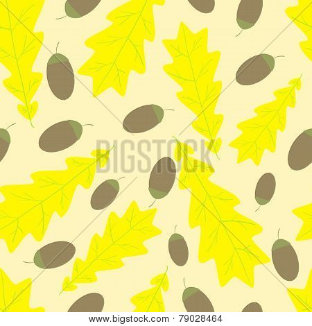 Acorn And Oak Leaf Pattern