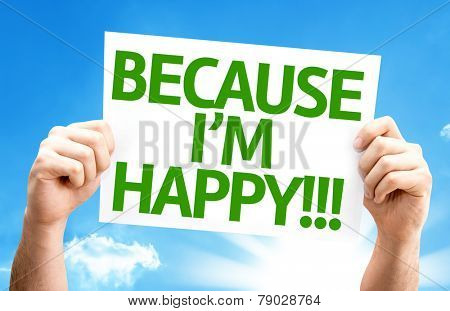 Because I'm Happy card with a beautiful day