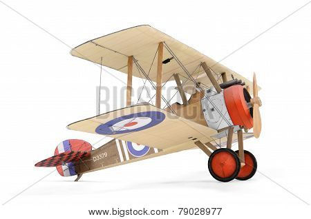 Paper Model Airplane Isolated On White