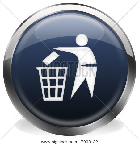 wastebasket button