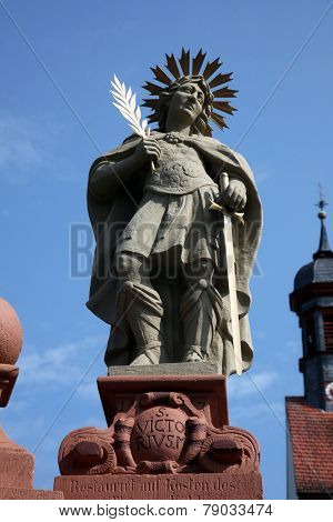 SCHONAU, GERMANY - JULY 18: Saint Victoirus. Schonau Abbey is a monastery of Friars Minor in the village of Schonau near Bavarian village of Gemunden am Main,Diocese of Wurzburg. July 18, 2013