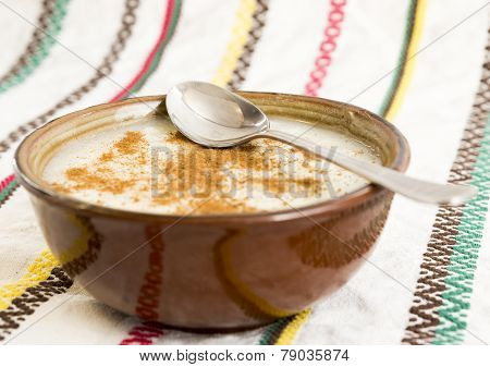 Milk And Rice With Cinnamon