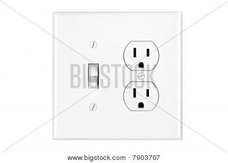 Light Switch On White