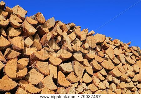 Firewood And Blue Sky