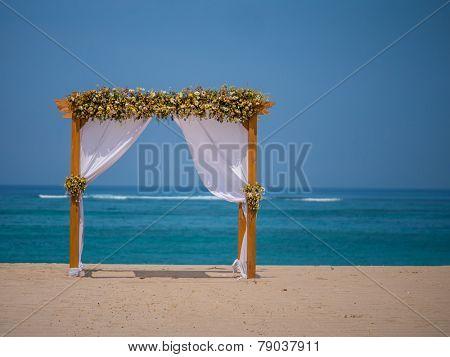 canopy on Kuta beach in Bali Indonesia