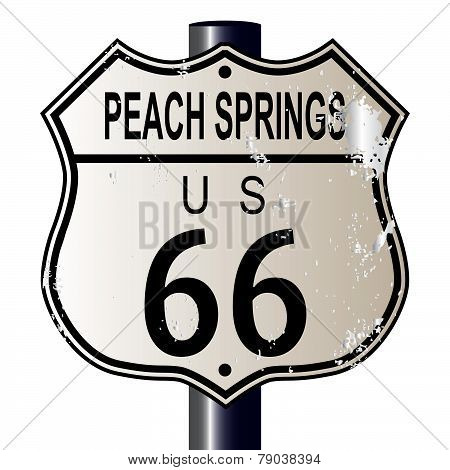 Peach Springs Route 66 Sign