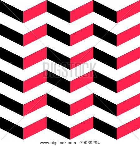 Seamless Stripe Pattern. Vector Red And Black Background.