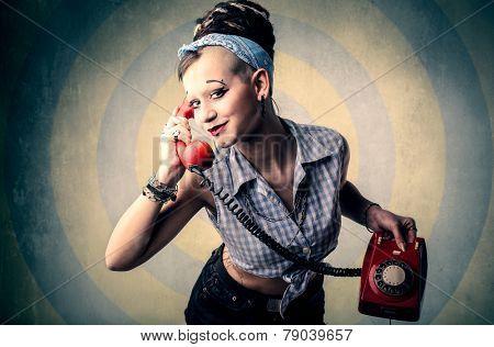 Vintage phone call
