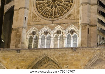 Leon cathedral, detail