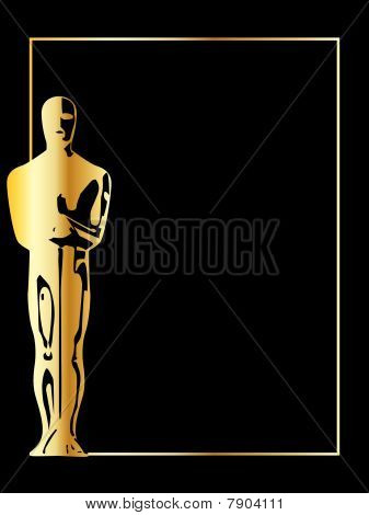 the gold vector statuette background