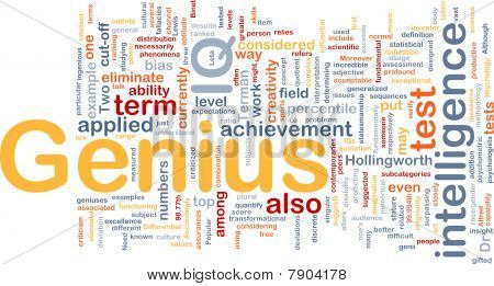 Genius Intelligence Background Concept