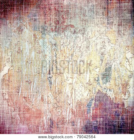 Abstract grunge textured background. With different color patterns: yellow (beige); brown; purple (violet); pink