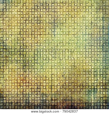 Vintage spotted textured background. With different color patterns: gray; yellow (beige); brown; green