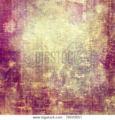 Art vintage background with space for text and different color patterns: gray; yellow (beige); purple (violet); pink