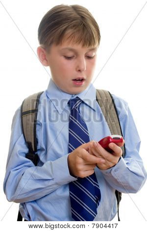 School Boy Child Sms Texting