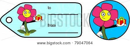 gift flower cartoon giftcard