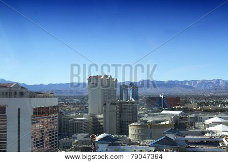 Las Vegas Strip From Atop The High Roller