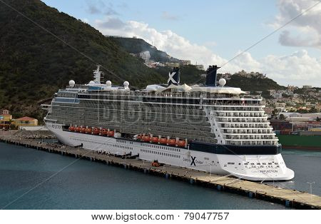 Celebrity Reflection Arrived In St Maarten