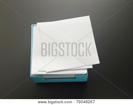 box of the memo pad