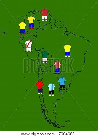 South America Soccer Map