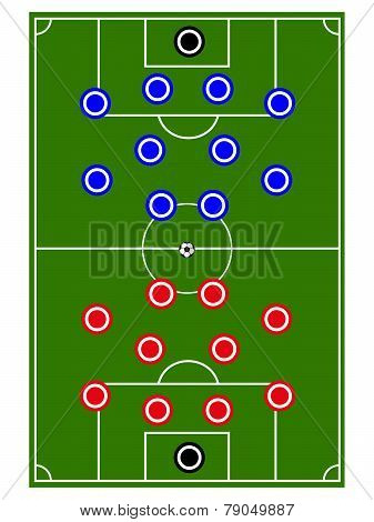 Soccer Teams Formation Circles